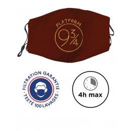 Masque de protection lavable CATÉGORIE 1 - UNS1 Harry Potter - 9 3/4 PLATFORM