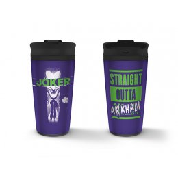 Mug de voyage Joker Straight Outta Arkham Métal
