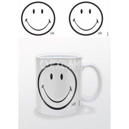 Mug Noir et Blanc Classique Smiley
