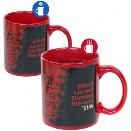 Mug Stranger Things RUN guirlande Thermoréactif