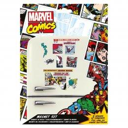Pack de 20 aimants magnets Marvel Retro Comics