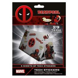 Pack de 29 tech Stickers Deadpool