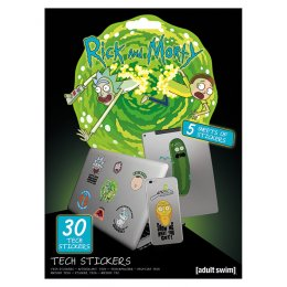Pack de 30 Tech Stickers Rick et Morty