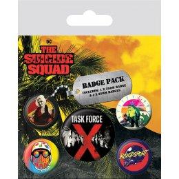 Pack de 5 badges Suicide Squad Task Force