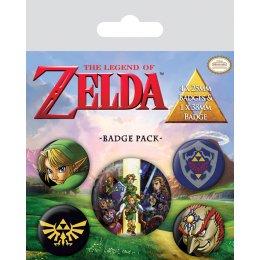 Pack de 5 badges Zelda