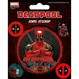 Pack de 5 Stickers Deadpool