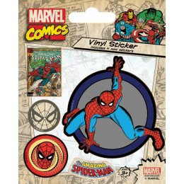 Pack de 5 Stickers Retro Spiderman