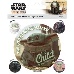 Pack de 5 Stickers Star Wars The Child Mandalorian
