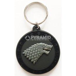 Porte-clés Stark Caoutchouc 6cm Game of Thrones