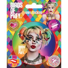 Pack de 5 Stickers Harley Quinn Birds Of Prey