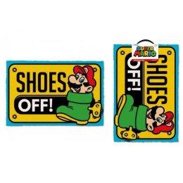 Tapis Paillasson Super Mario Shoes Off