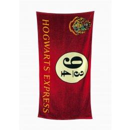 Serviette de bain Harry Potter 9 3/4 Hogwarts Express