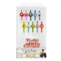 Set 10 bougies Harry Potter happy birthday