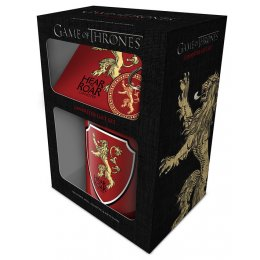 Set Game of Thrones Mug sous verre et porte-clés Lannister