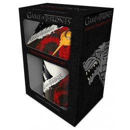 Set Game of Thrones Mug sous verre et porte-clés Stark & Targaryen