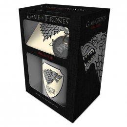 Set Game of Thrones Mug sous verre et porte-clés Stark