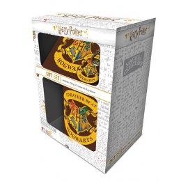 Set Harry Potter Mug sous verre et porte-clés Poudlard