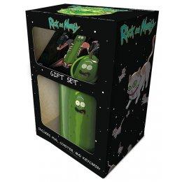 Set Rick et Morty Mug sous verre et porte-clés Pickle