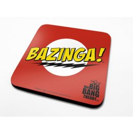 Sous-Verre Rouge Bazinga 10 x 10cm Big Bang Theory