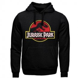 Sweat à capuche Jurassic Park noir Logo classique