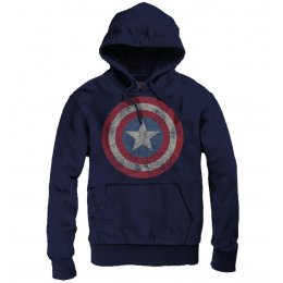 Sweat Captain America Marvel Bleu Logo vintage