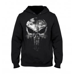 Sweat Punisher Skull MARVEL noir