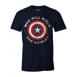 T-shirt Falcon et le Soldat de l'Hiver MARVEL - Wield the shield painting