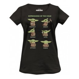 T-Shirt Femme Star Wars The Mandalorian - Child Chibi