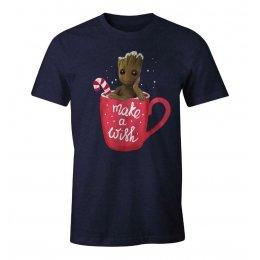 T-Shirt Groot Make a Wish MARVEL