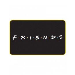 Tapis Friends noir F.R.I.E.N.D.S logo