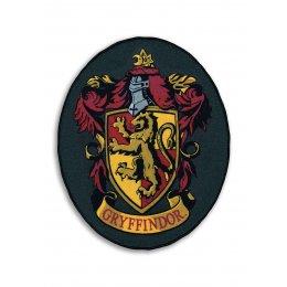 Tapis Harry Potter blason Gryffondor ovale noir