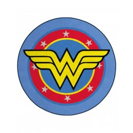 Tapis Wonder Woman rond logo