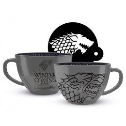 Tasse cappuccino Game of Thrones Stark