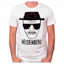 Tee-Shirt Blanc Heisenberg Head Breaking Bad
