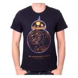 Tee-Shirt Bleu BB8 Droid Technical Star Wars