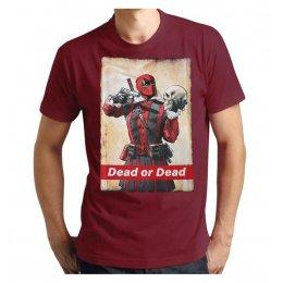 Tee-Shirt Deadpool Dead or Dead bordeaux