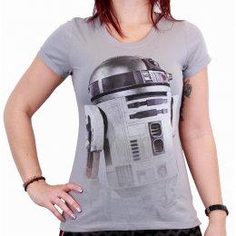 Tee-Shirt Femme Gris R2D2 Star Wars
