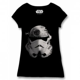 Tee-Shirt Femme Noir Trooper Space Star Wars