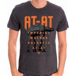 Tee-Shirt Gris AT AT Bigger Star Wars