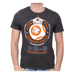 Tee-Shirt Gris BB8 Astromech Droid Star Wars
