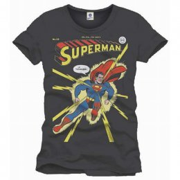 Tee-Shirt Gris Comics It Tickles Superman