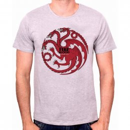 Tee-Shirt Gris Fire And Blood Game of Thrones