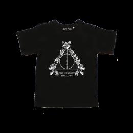 Tee-Shirt Harry Potter Femme Reliques de la mort fleuries
