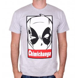 Tee-Shirt homme gris Chimichanga Deadpool