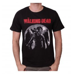Tee-Shirt Noir Approaching Walkers The Walking Dead