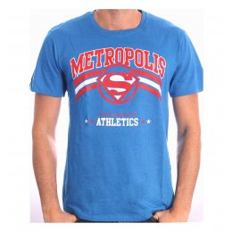 Tee-Shirt Noir Bleu Athletic Superman