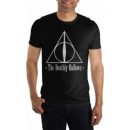 Tee-Shirt Noir Deathly Hallows Harry Potter