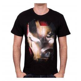 Tee-Shirt Noir Iron Mask + Captain Iron Man