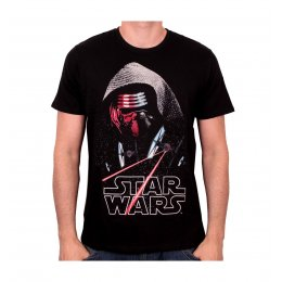 Tee-Shirt Noir Kylo Ren Fighters Star Wars 7