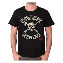 Tee-Shirt Noir Survivor The Walking Dead